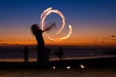 Fire dancer, La Playa del Valle Gran Rey